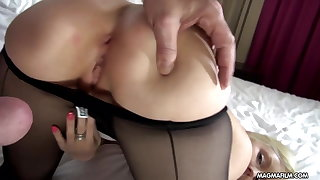 MAGMA FILM Busty blonde German babe gets cock overwrought surprise