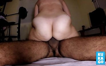 Hairy amateur join in matrimony peluda big strong ass rides cums