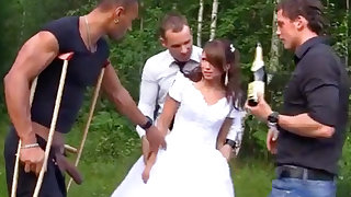 Sexy Bride there Foursome Gangbang