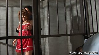 Arrested Asian chick Rio Haruna is fucked apart from several dudes in prison