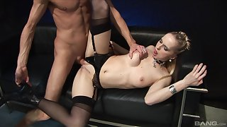 Slim milf loads pussy and mouth nearby tasty dong
