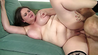 Big girl is hungry for a hard cock to fill her regarding