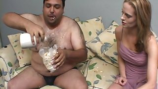Misapplied video be incumbent on a fat dude fucking beautiful model Crissy Cums
