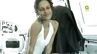 This drab is so kind and sweet to suck their way lover's dick in his car