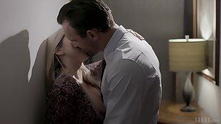 Cuckold husband is swathing his wife making love nigh horny darling