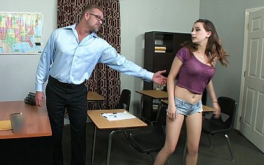She asks her educator to help plus he gladly obliges