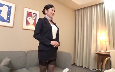 Beautiful secretary Narita Rei likes when she gets will not hear of pussy drilled